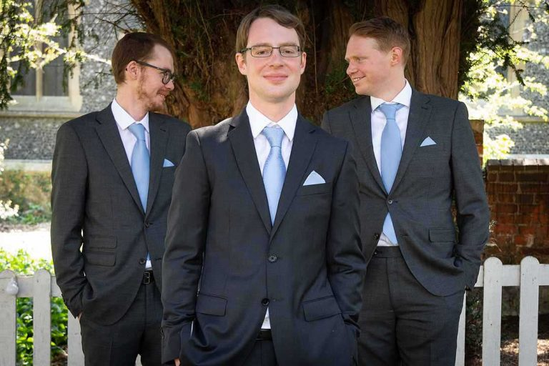 groom with his two best men