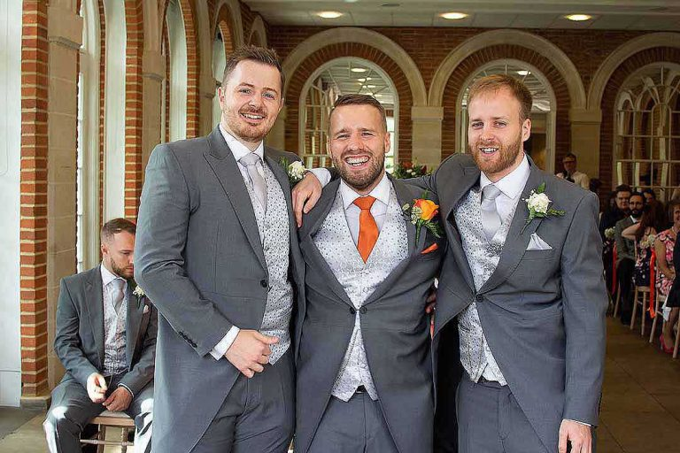 Groom and his two best men