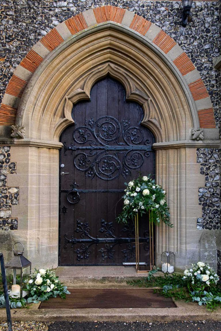 gothic doors of Bradfield College chapel