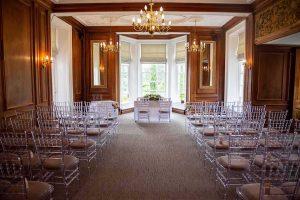 the oak ceremony room at Barnett Hill Hotel