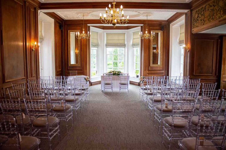 the oak ceremony room at Barnett Hill Hotel