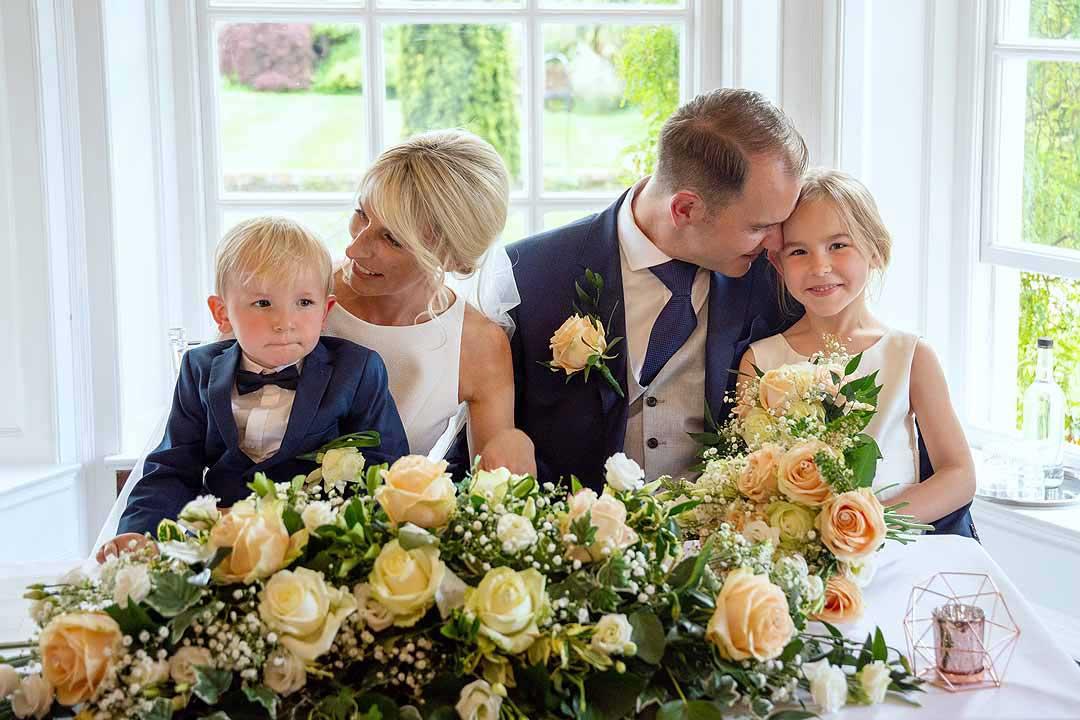 Barnett Hill Wedding - Bride Groom and kids