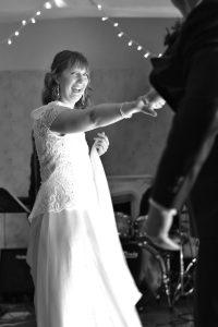 bride dancing with groom
