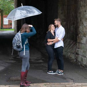lorna photographing an embracing couple