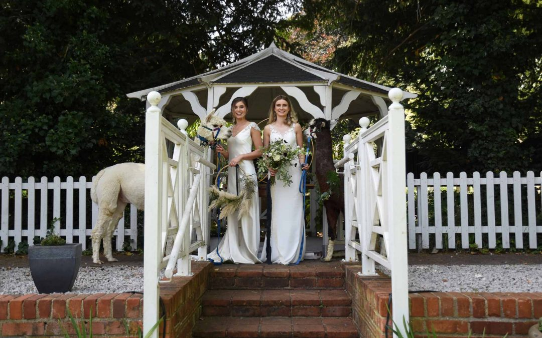 White and green luxe wedding inspiration at The Elephant Hotel, Pangbourne
