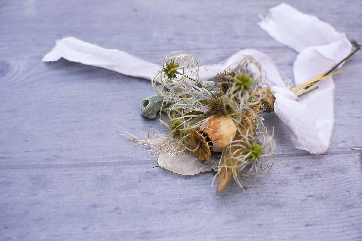 dried flower button hole