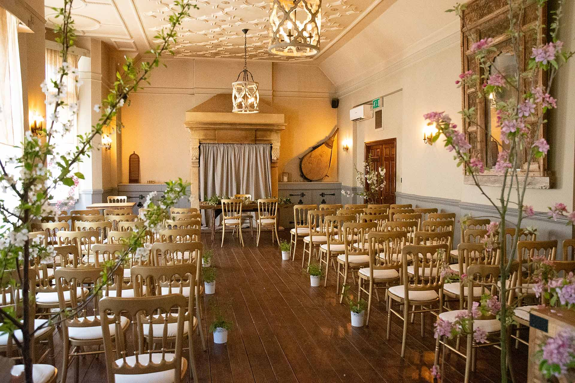 ceremony room at the Elephant Hotel in Pangbourne