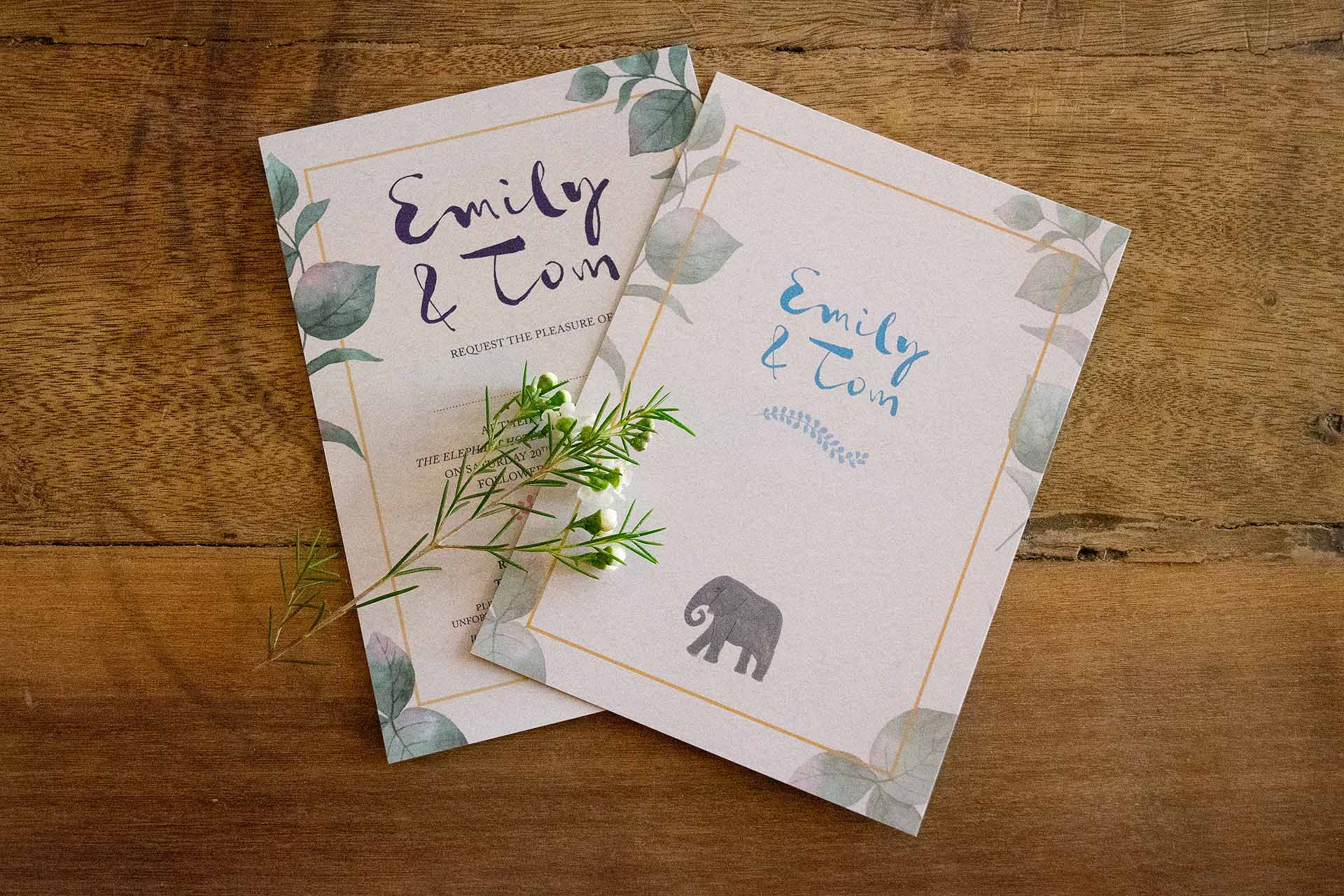 Emily and Tom's Wedding Invitations