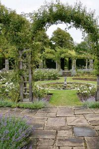 Sunken rose garden at Great Fosters, Surrey