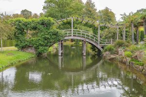 Japanese bridge at Great Fosters, Surrey