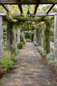 Colonnade garden walkway at Great Fosters