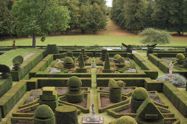Topiary garden at Great Fosters, Surrey