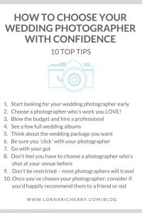 how to choose your wedding photographer with confidence - 10 top tips