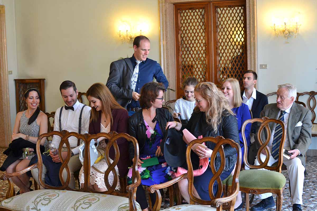 guests being seated ready for the wedding ceremony