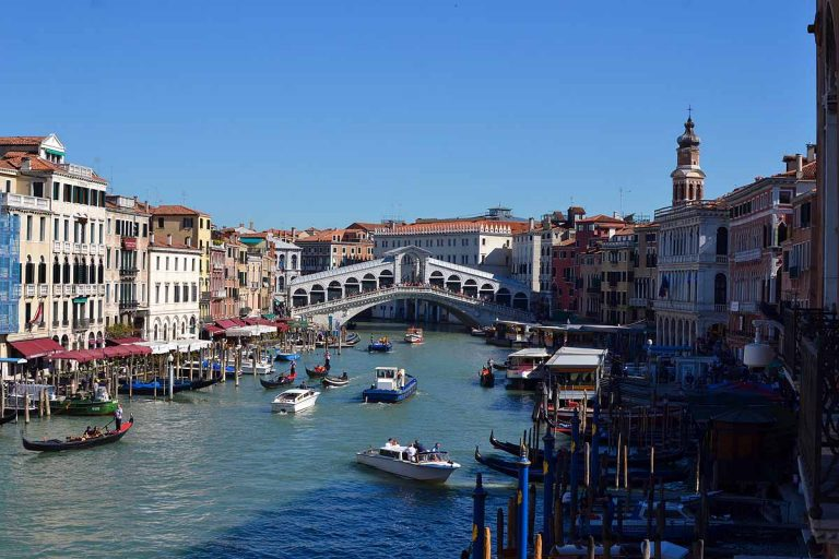 The Rialto Bridge in Venice