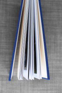 Blue linen bound album