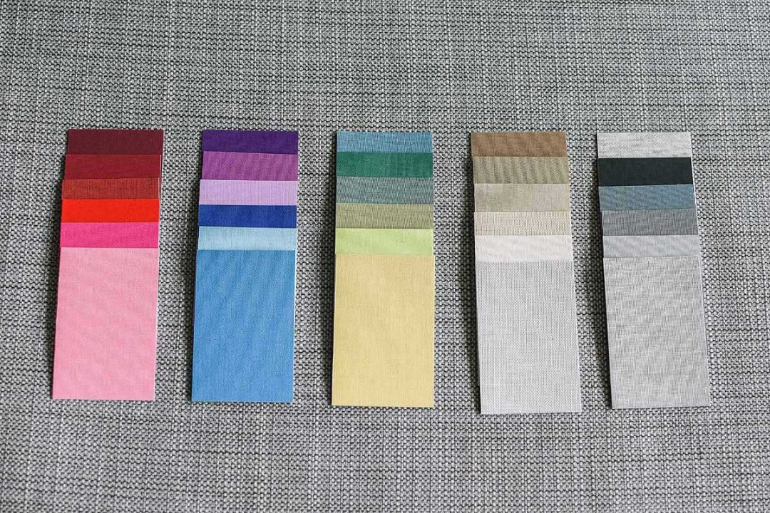 wedding album linen colour samples
