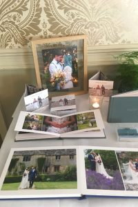 Lorna Richerby Photography's display at The Elephant Hotel's Wedding Fayre, October 2019