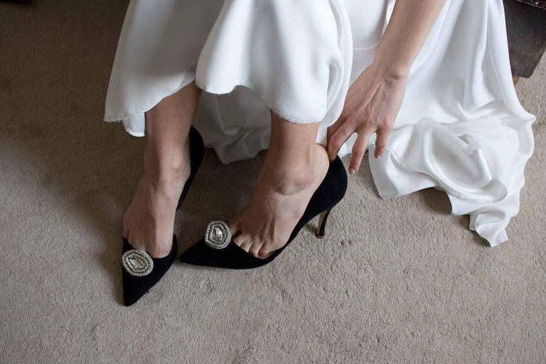 Clara - luxury black wedding shoes by Emmy London