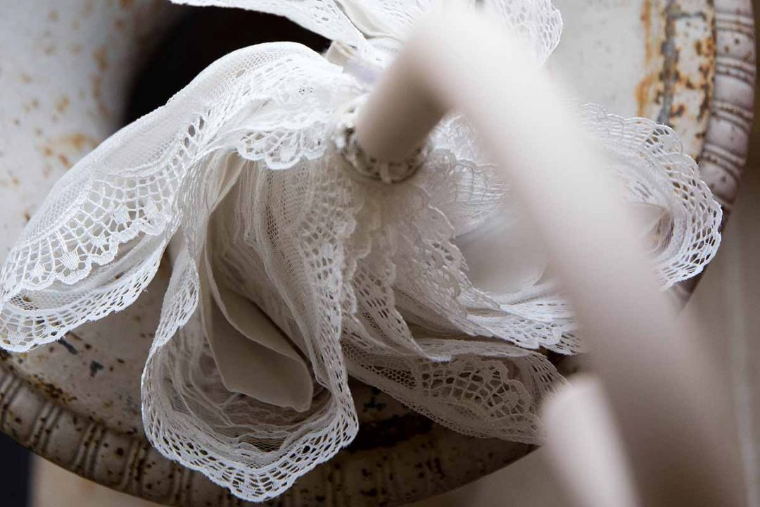 white lace umbrella