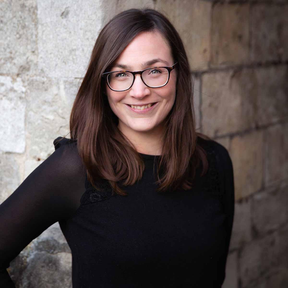 Lorna Richerby profile against wall