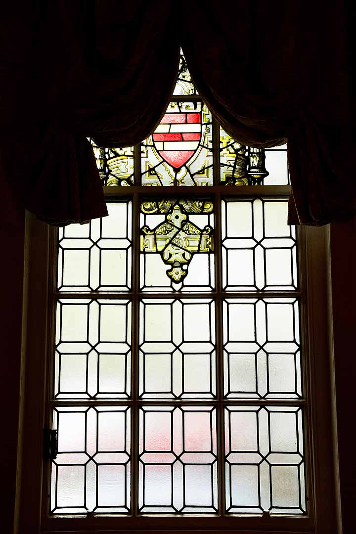 Stained glass window at Oxford Registry Office