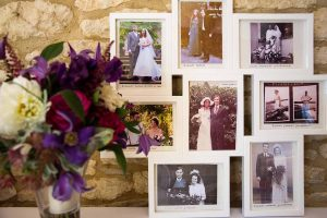 flowers and wedding photographs