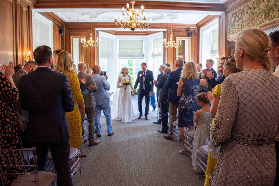 wedding ceremony at Barnett Hill Hotel