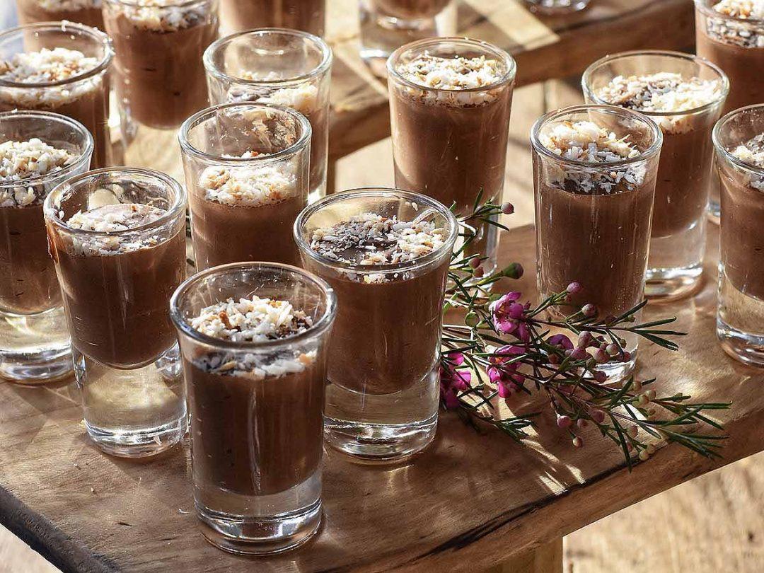 chocolate moose in shot glasses